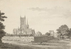 Lincoln Cathedral, from the east